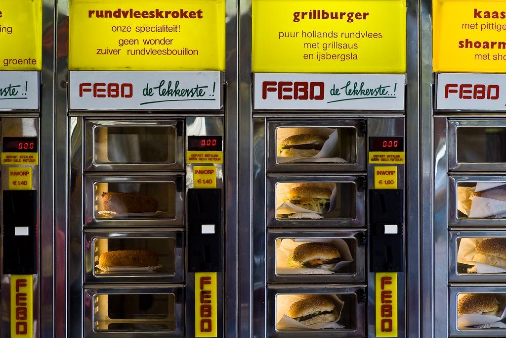 네덜란드의 신기한 패스트푸드 자판기, Febo – 네덜란드 상점탐구
