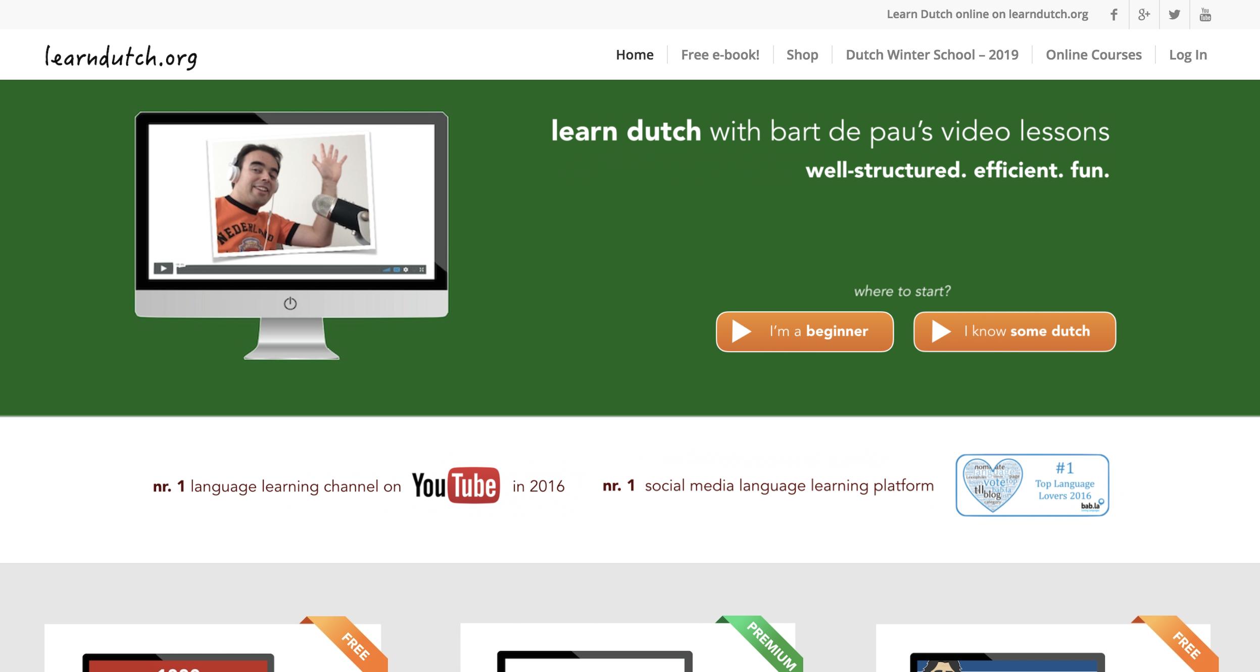 더치어 단어 공부 쉽게 무료로 시작하기 좋은 웹사이트! learndutch.org