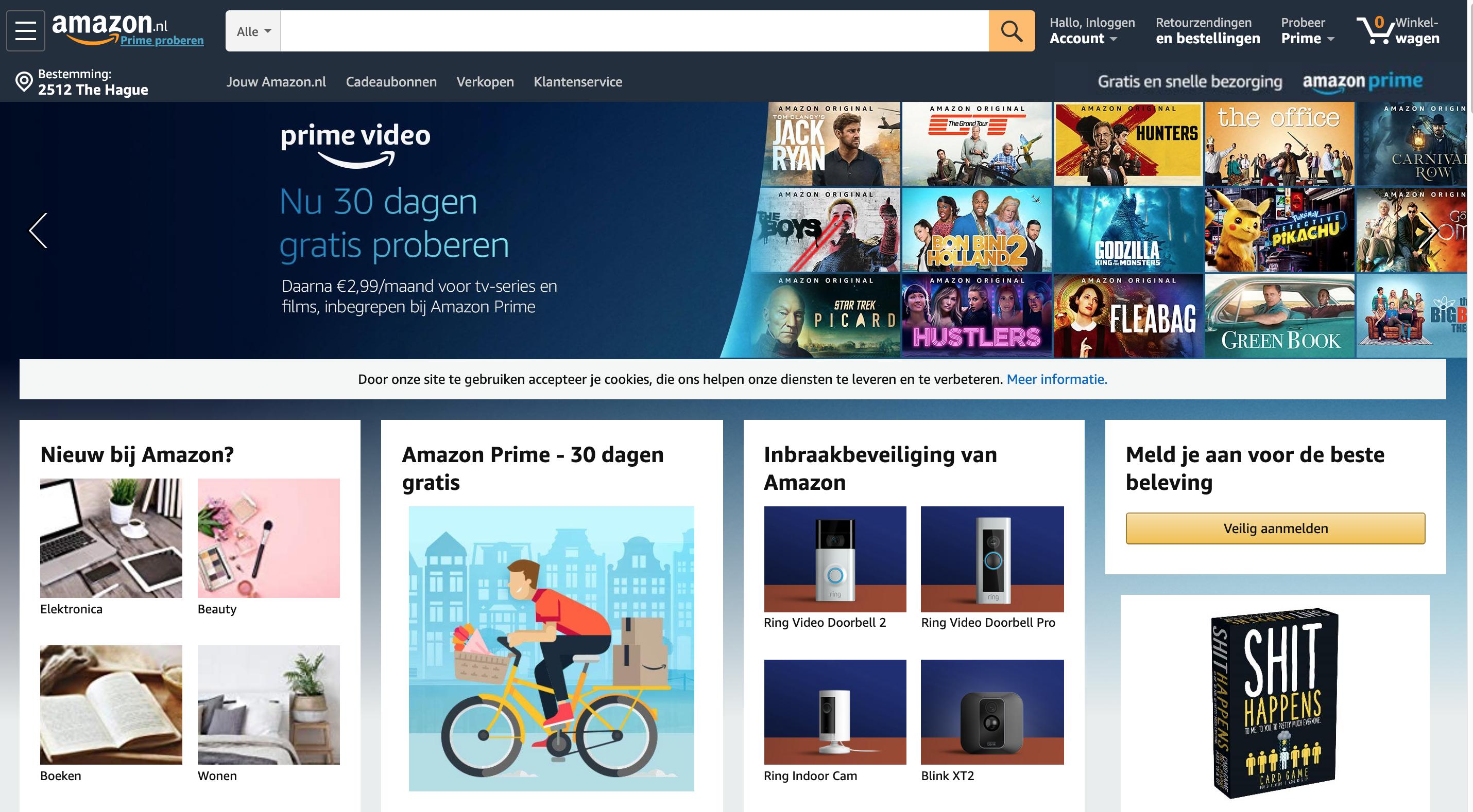 아마존 네덜란드(amazon.nl)가 오픈하다