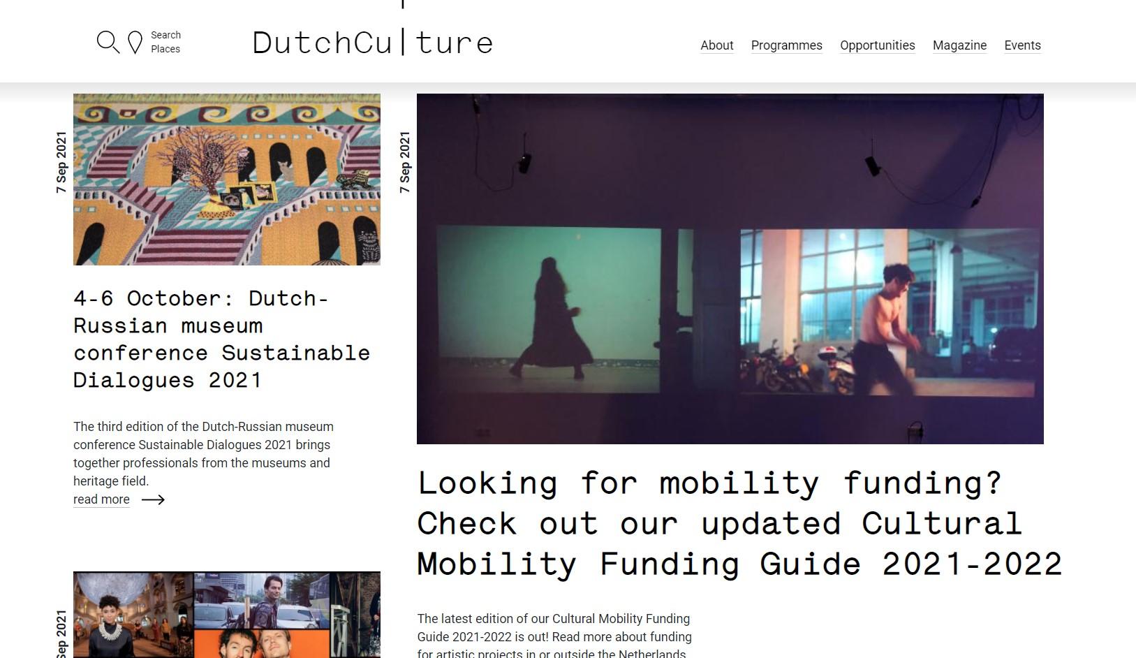 Website of dutch culture